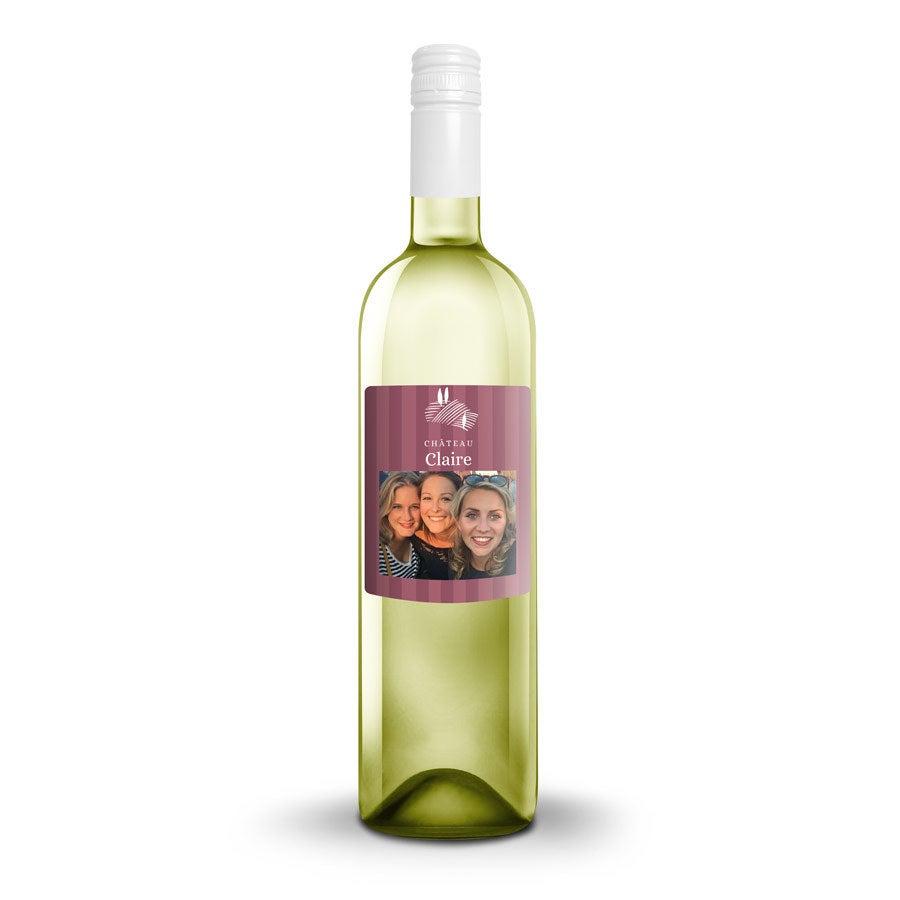 Bouteille de vin Cantine Riondo Pinot Grigio avec étiquette personnalisée