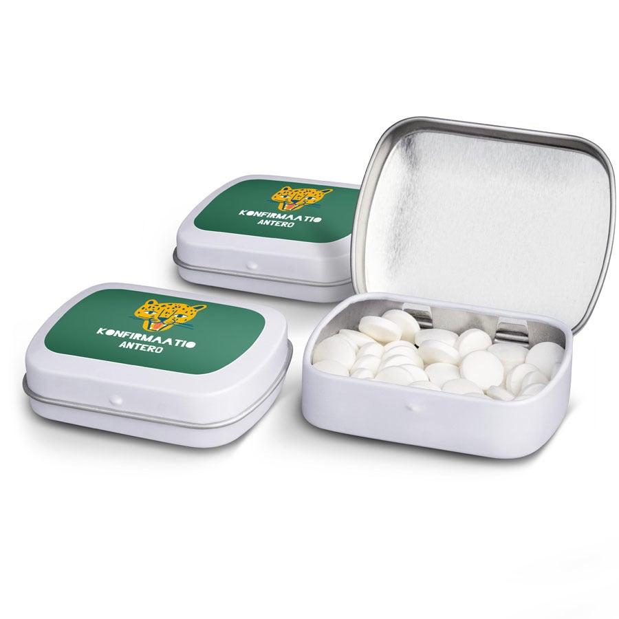 Piparminttupastillit tinarasiassa - 100 kpl
