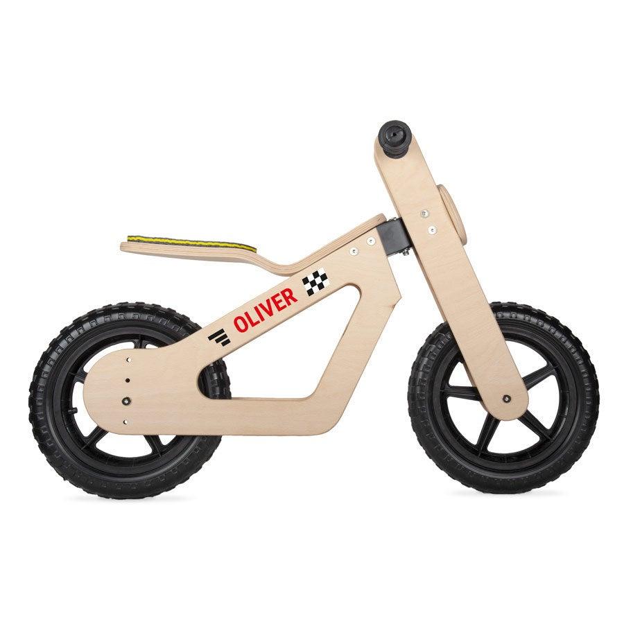 Personalised Wooden Children's Balance Bike