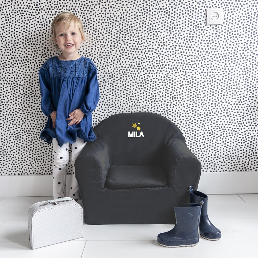 Personalised children's chair - Grey