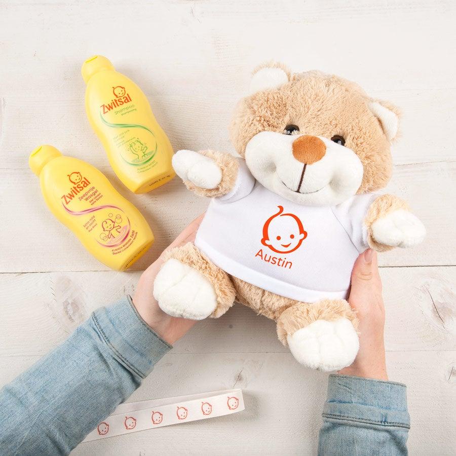 Személyre szabott Zwitsal baba ajándékkészlet - Betsy medve