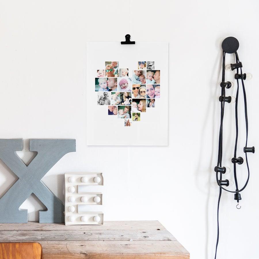 Foto Collage Poster - Papa & ich (30x40cm)