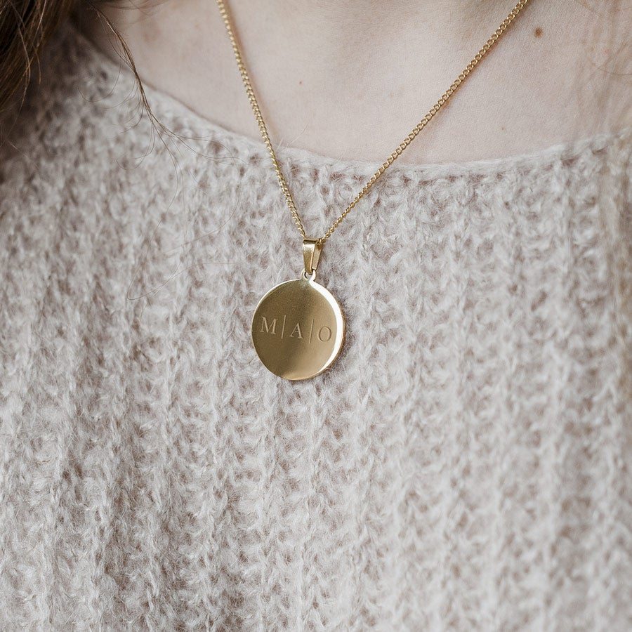 Name Pendant – Round Gold-plated