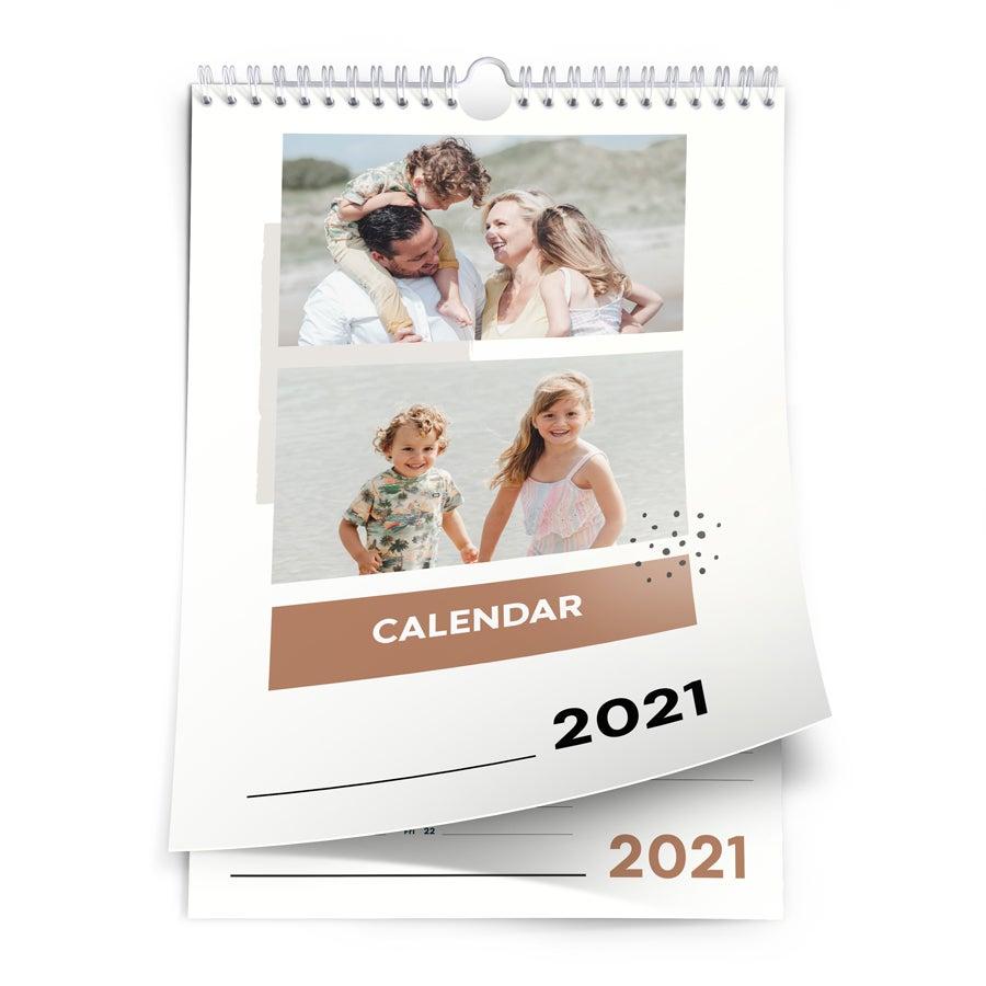 Årskalender 2021 - A4 - enkelsidig - Ståendes