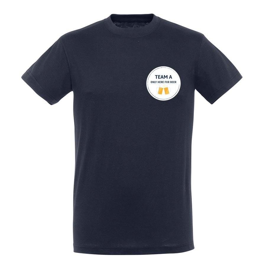 T-paita omalla painatuksella - Miehet - Sininen - S