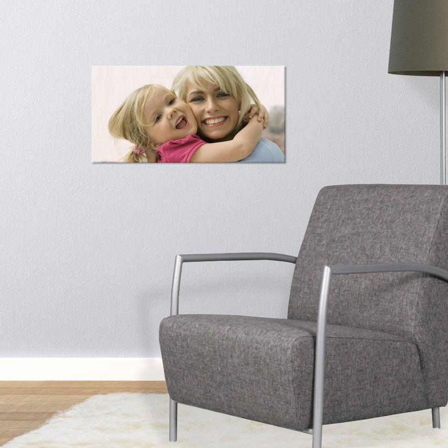 Puinen valokuvataulu (60x30cm)