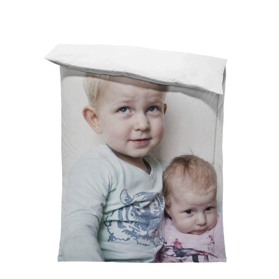 Housse de couette imprimée 1 personne - 140x200 cm - Coton