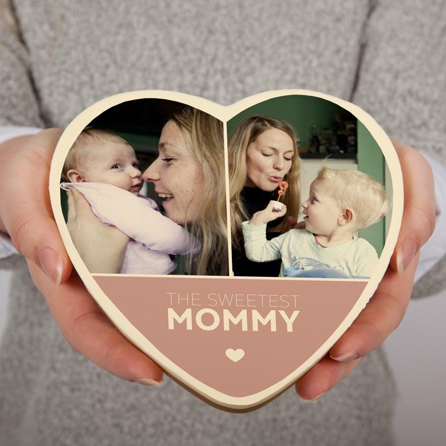 Csokoládé anyák napja szív - nagy
