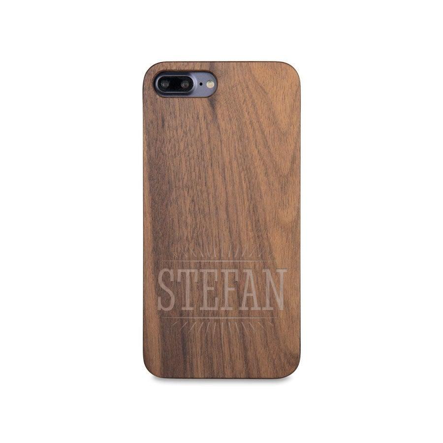 Houten telefoonhoesje graveren - iPhone 7 plus
