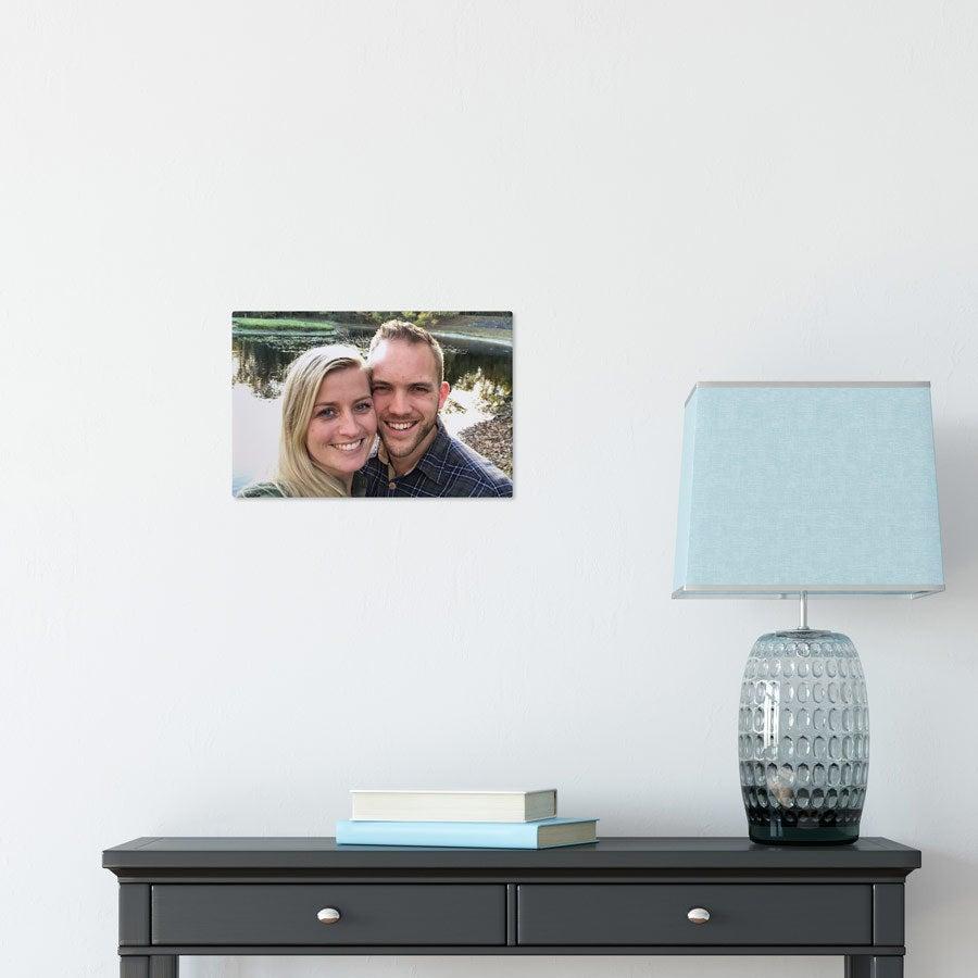 Foto op aluminium afdrukken - Wit (ChromaLuxe) - 30 x 20 cm