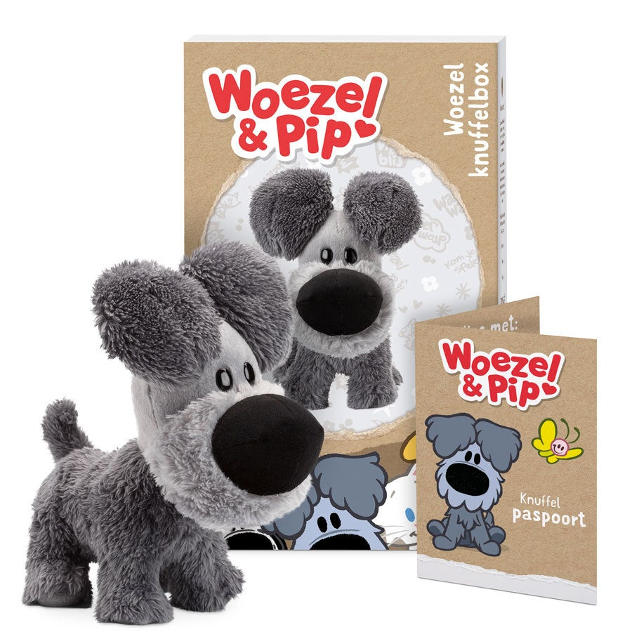 Woezel en Pip knuffelbox - Woezel