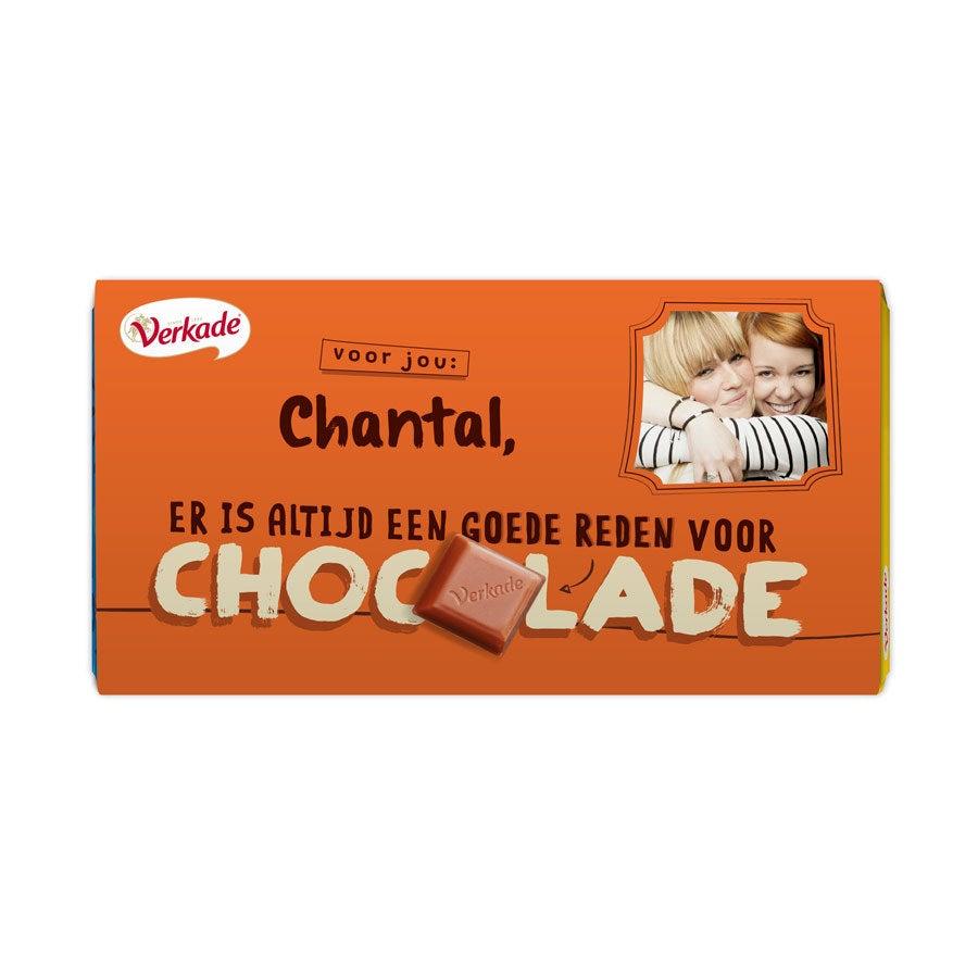 Verkade chocoladereep bedrukken - Zomaar (Hazelnoot)