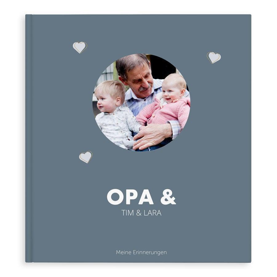 Fotobuch für Opa - Opa & ich/wir - XL - Hardcover - 40 Seiten