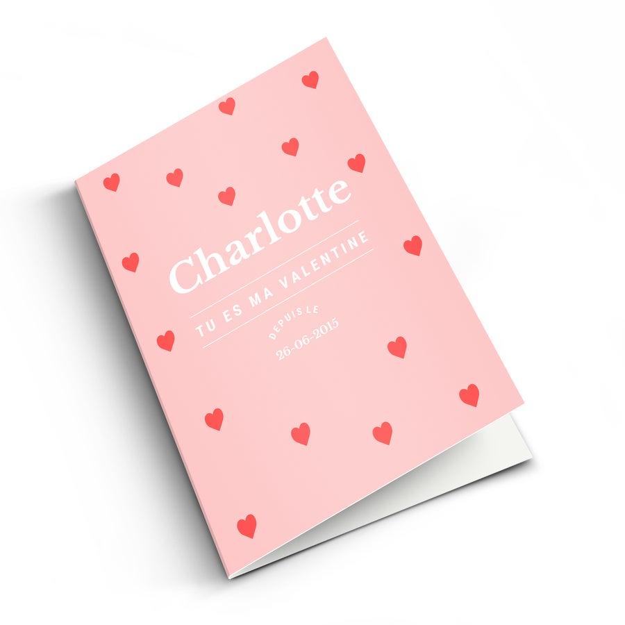 Carte de Saint-Valentin - XL - Portrait