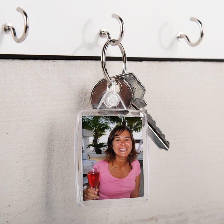 Acyrlic foto nøkkelring - dobbeltsidig (sett med 50)