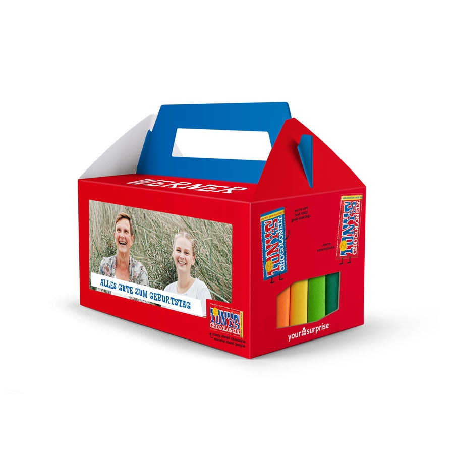 Individuellleckereien - Geschenkbox mit 6 Tony apos s Chocolony Tafeln - Onlineshop YourSurprise