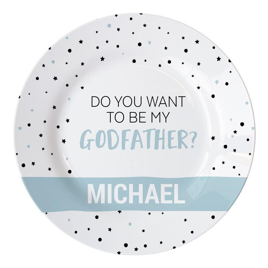 Vil du være min gudfar tallerken