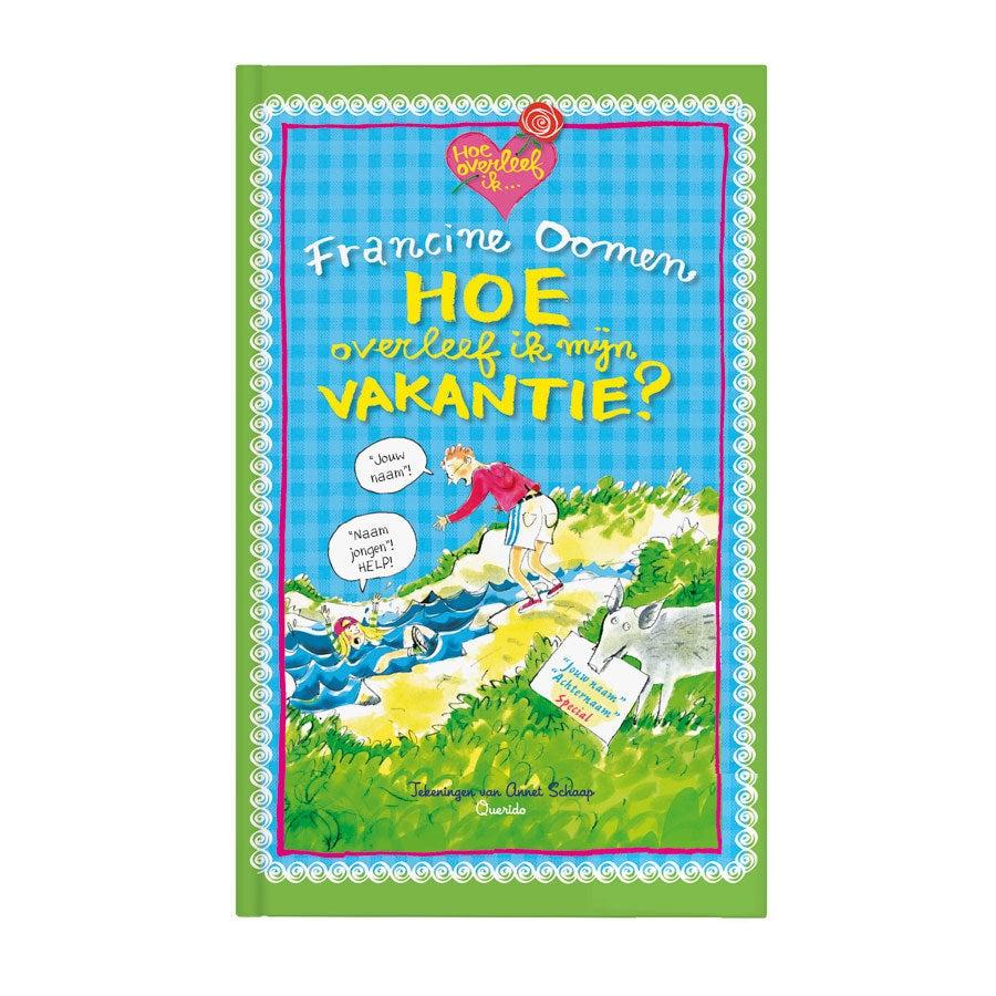 Boek met naam - Hoe overleef ik mijn vakantie - Hardcover