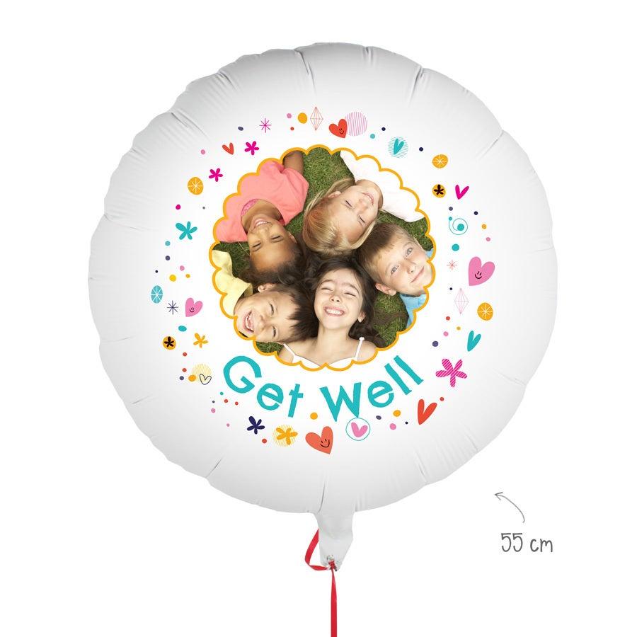 Ballon met foto - Beterschap