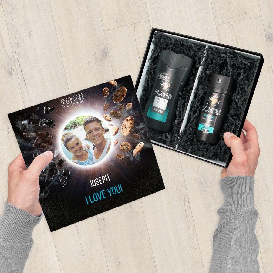 Axe gift set - Shower Gel & Deodorant - Leather & Cookies