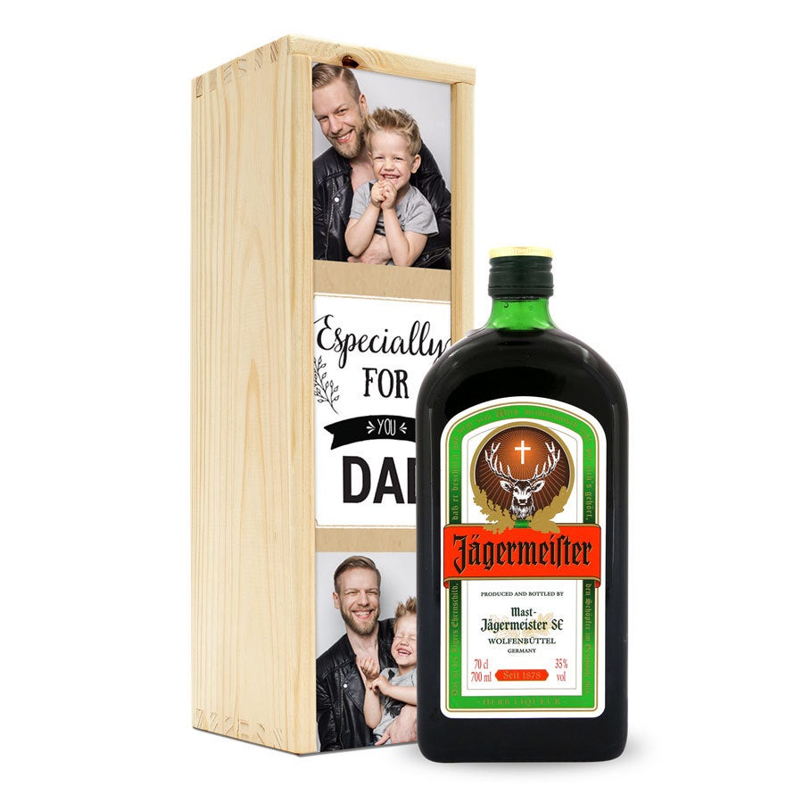Jagermeister in personalized case