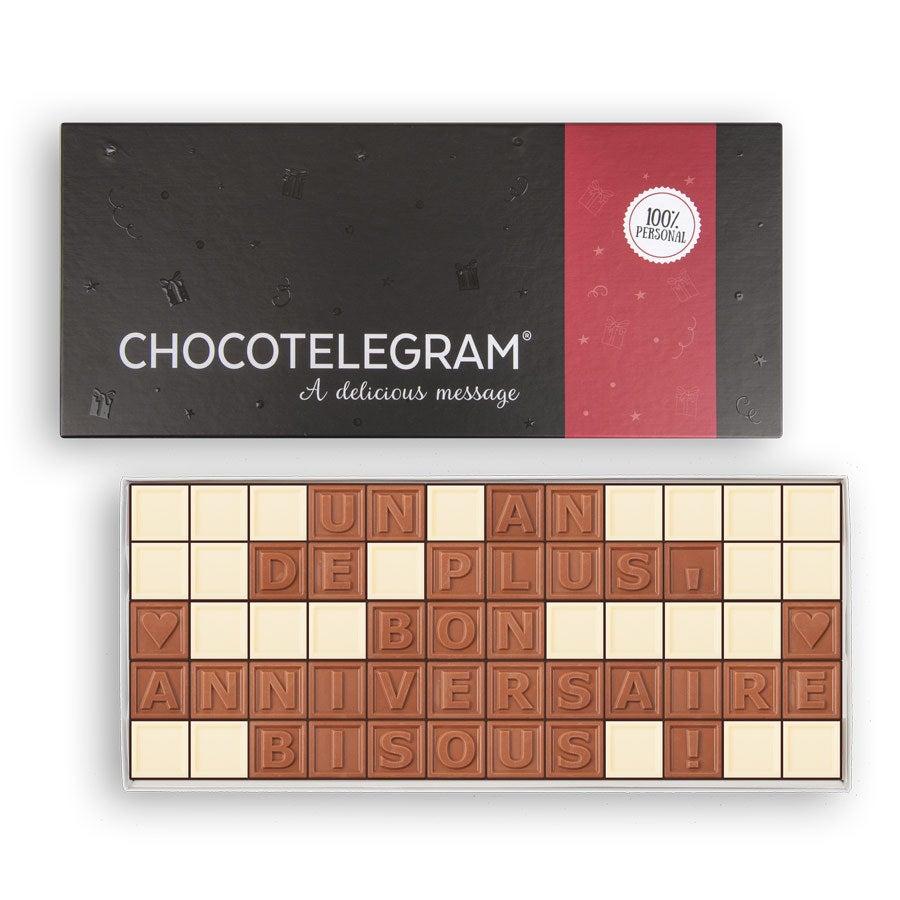 Chocotelegram - Coffret cadeau 5 x 12