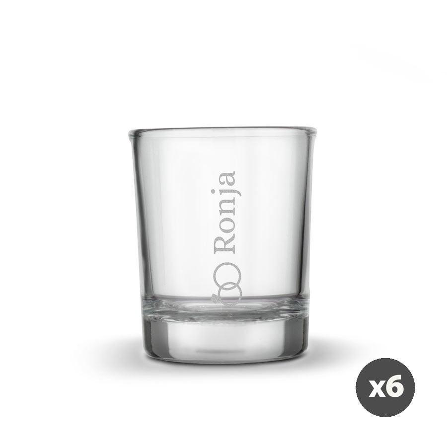 Individuellküchenzubehör - Schnapsglas mit Gravur 6 Stück - Onlineshop YourSurprise