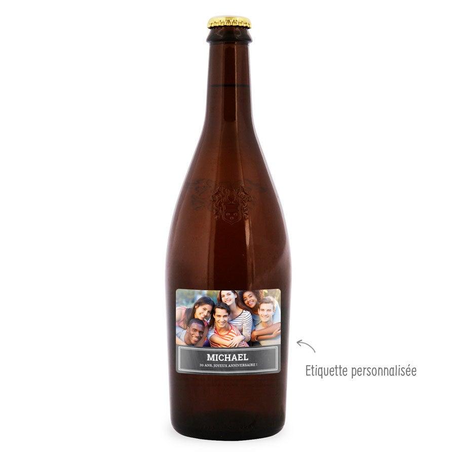 Bière avec étiquette personnalisée - Duvel Moortgat
