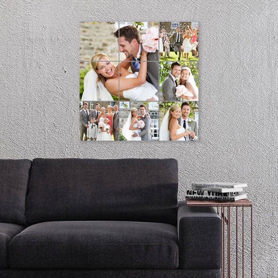 Instacollage fotopanelen bedrukken - 15x15 - Glans (9 tegels)