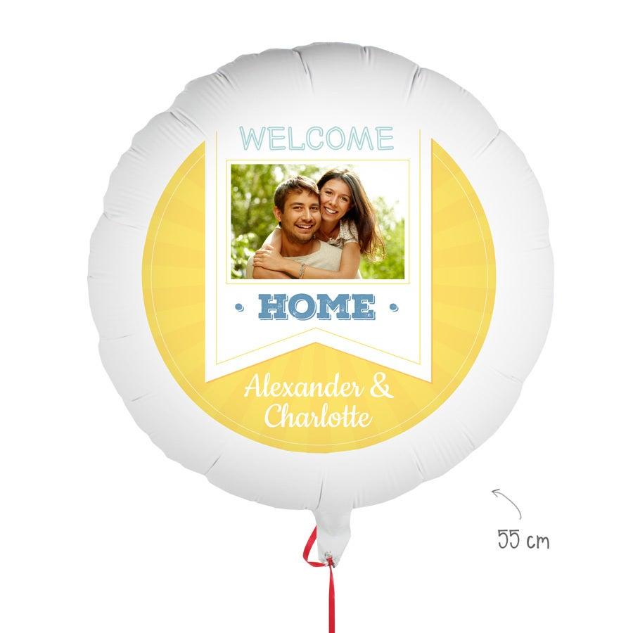 Ballon bedrucken - Willkommen zu Hause