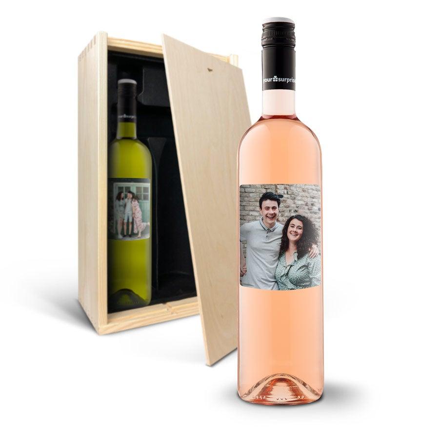 Wine gift set with personalised label - Maison de la Surprise - Syrah & Sauvignon Blanc
