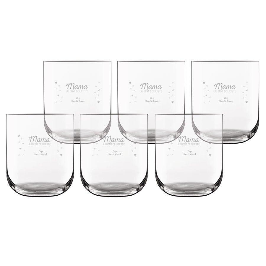 Waterglas deluxe graveren (6 stuks)
