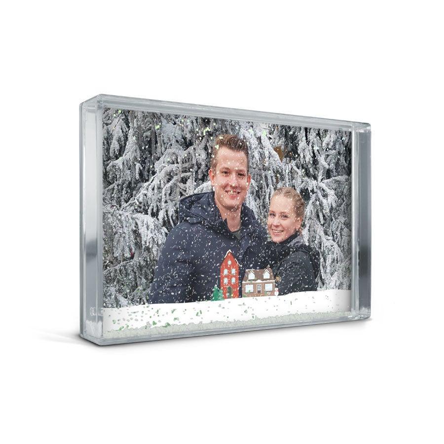 Schneekugel mit Foto - Rechteck
