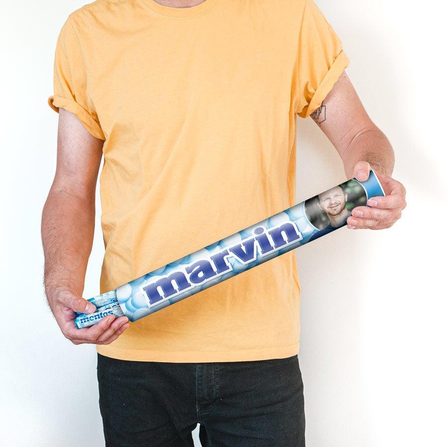 Rouleau Mentos XXL personnalisé - goût menthe