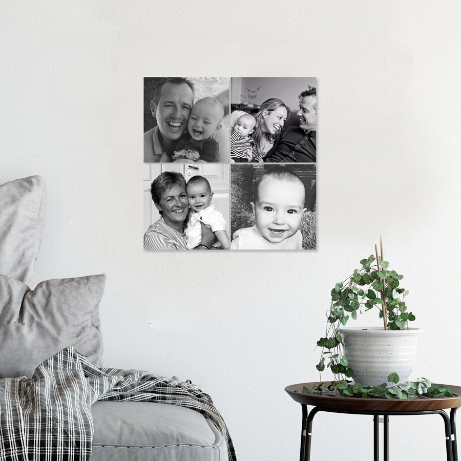 Instacollage fotopanelen - 15x15 - Glanzend (4 tegels)