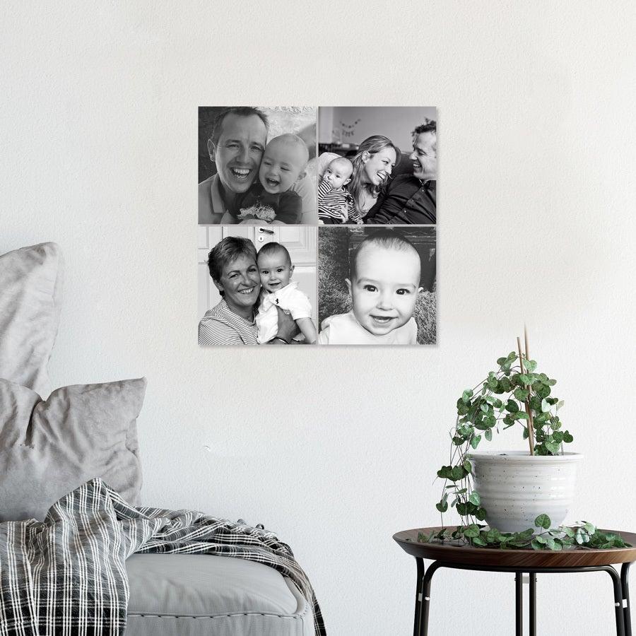 Instagram collage fotopaneler - 15x15 - Glossy (4 stk)