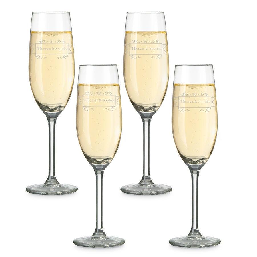 Coupes de champagne (4 pièces)