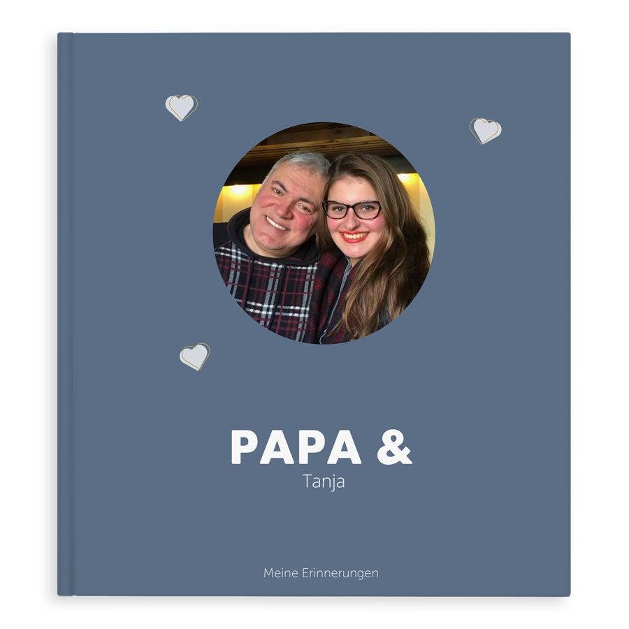 Fotobuch für Papa - Papa & ich/wir - XL - Hardcover - 40 Seiten