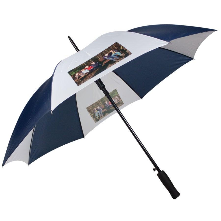 Azul guarda-chuva