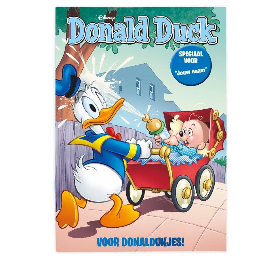 Tijdschrift met naam - Donald Duck - Geboorte (jongensversie)