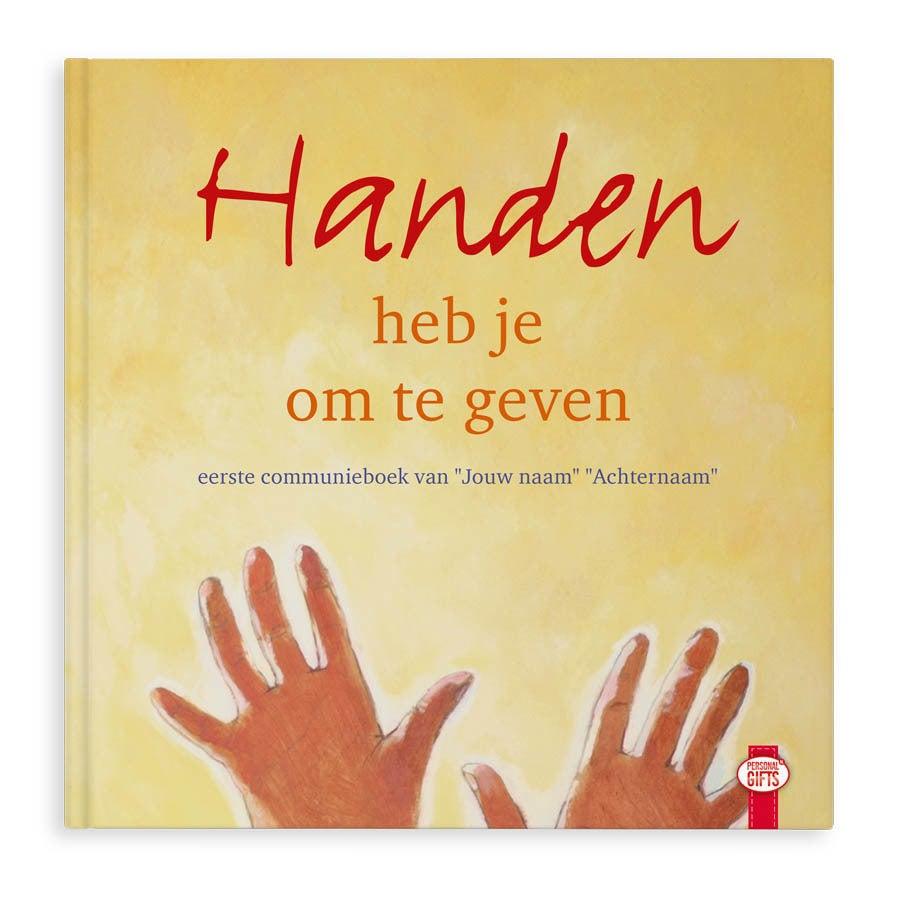 Communieboek - Handen heb je om te geven