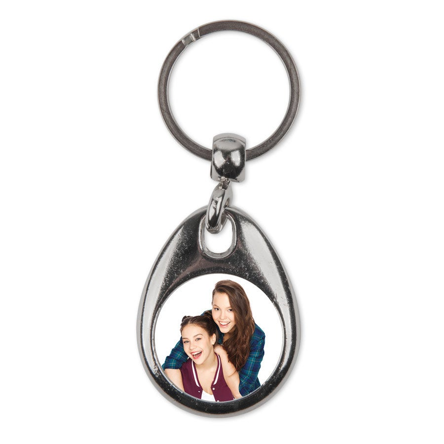 Schlüsselanhänger mit Foto beidseitig - Rund