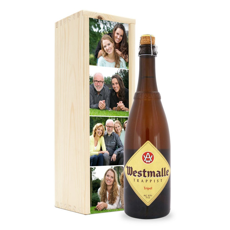 Bier in bedrukte kist - Westmalle Tripel