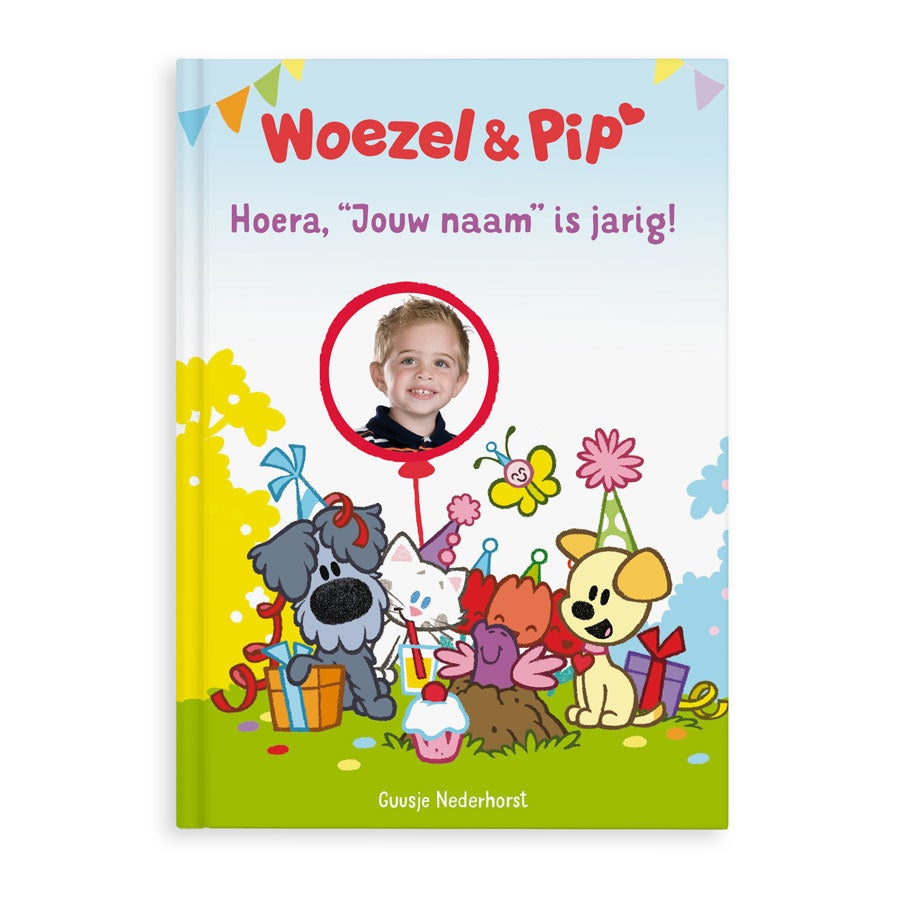 Boek met naam - Woezel & Pip - Verjaardag - XL (Hardcover)