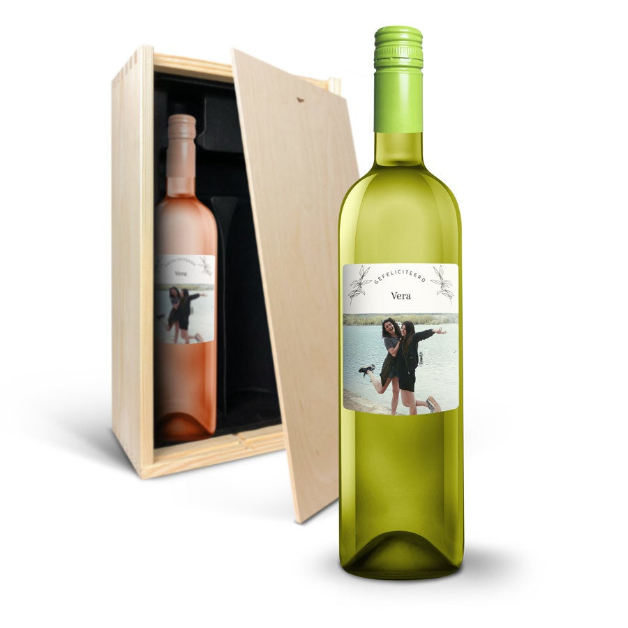 Wijnpakket met etiket - Oude Kaap - Wit en rosé