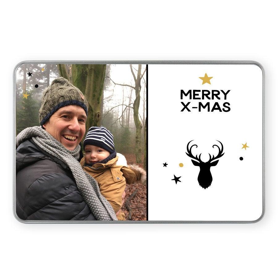 Vánoční cínová paměťová krabička