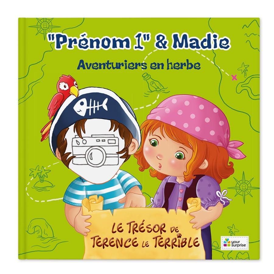 Livre de pirate - Jack & Madie - Garçons (couverture rigide)