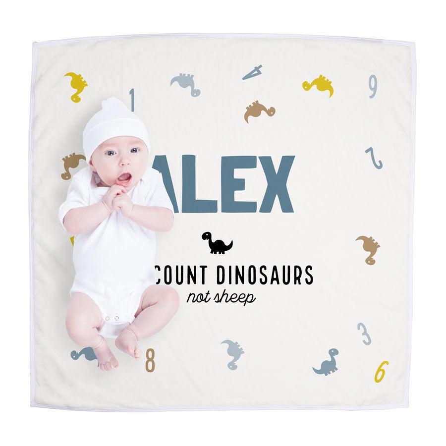 Cobertor de bebê personalizado