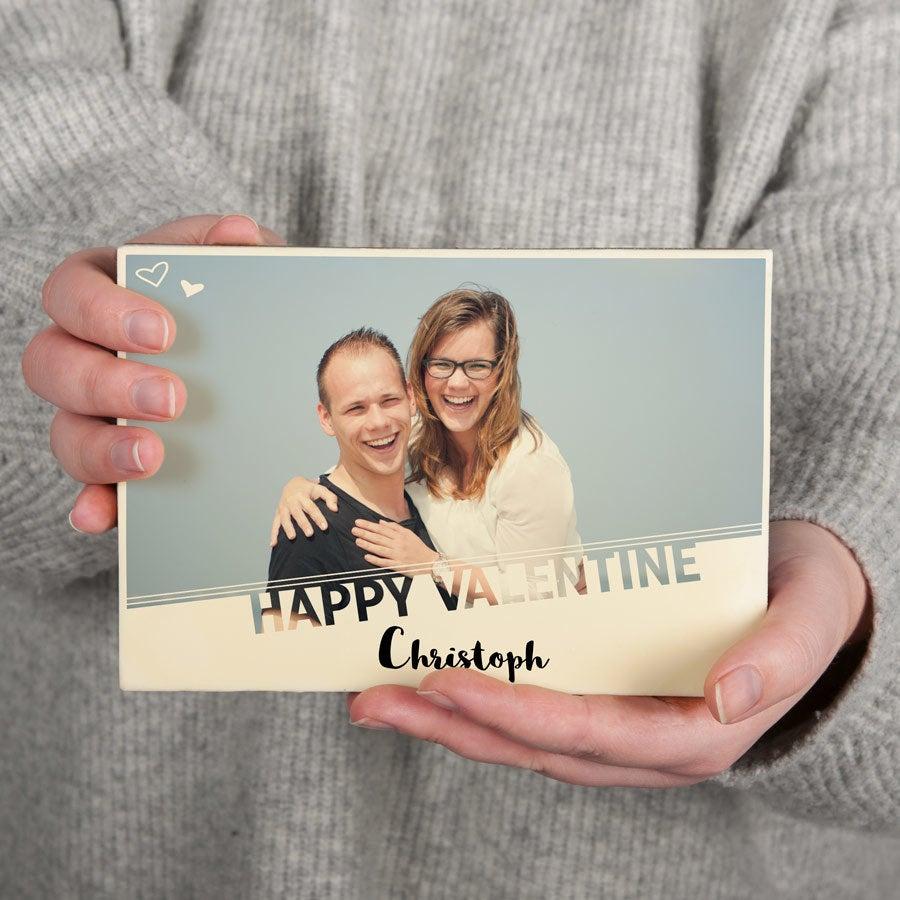 Csokoládé Valentin kártya - nagy