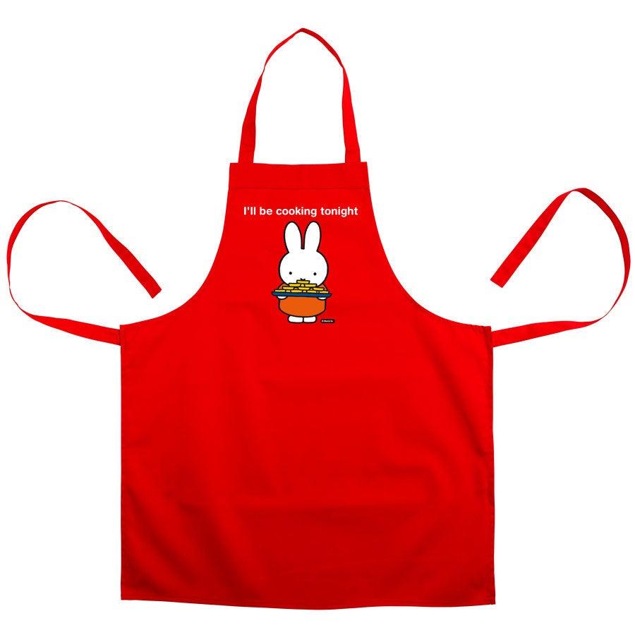 Keittiön esiliina miffy - Punainen